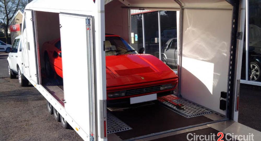 Covered Car Transporter Hire